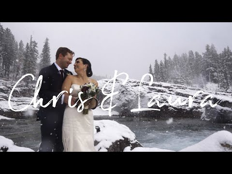 Magical Winter Wedding at Elbow Falls | Chris and Laura Patterson